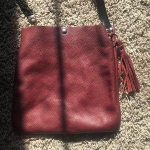 ❤️Burgundy leather purse!!❤️🖤